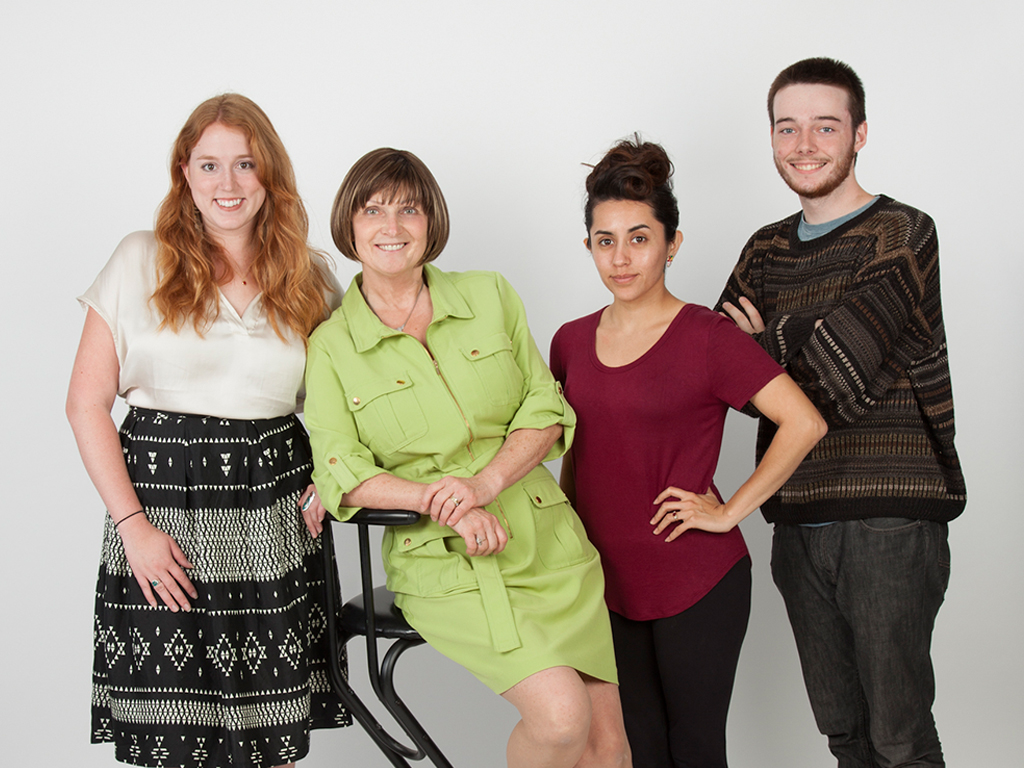 The Arrow Camera Team, from left to right, Kayla, Margrit, Marissa and James