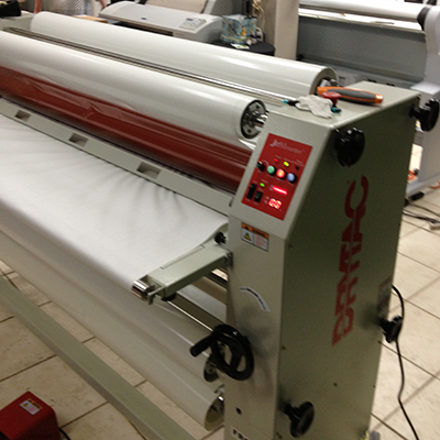 our drytac laminator being prepped for canvases
