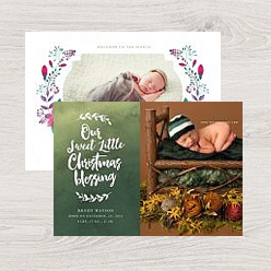 examples of our birth announcement card templates