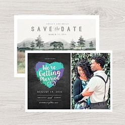 examples of our wedding announcement card templates